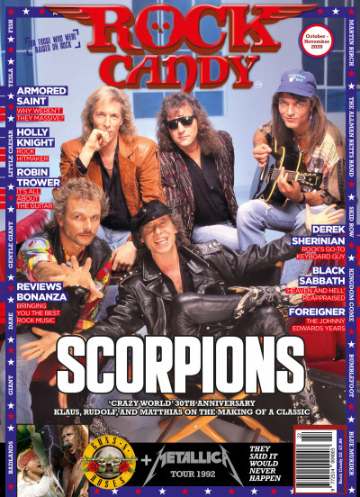 Issue 22 is available right now, featuring our mega-feature celebrating the 30th anniversary of the Scorpions classic 'Crazy World'.