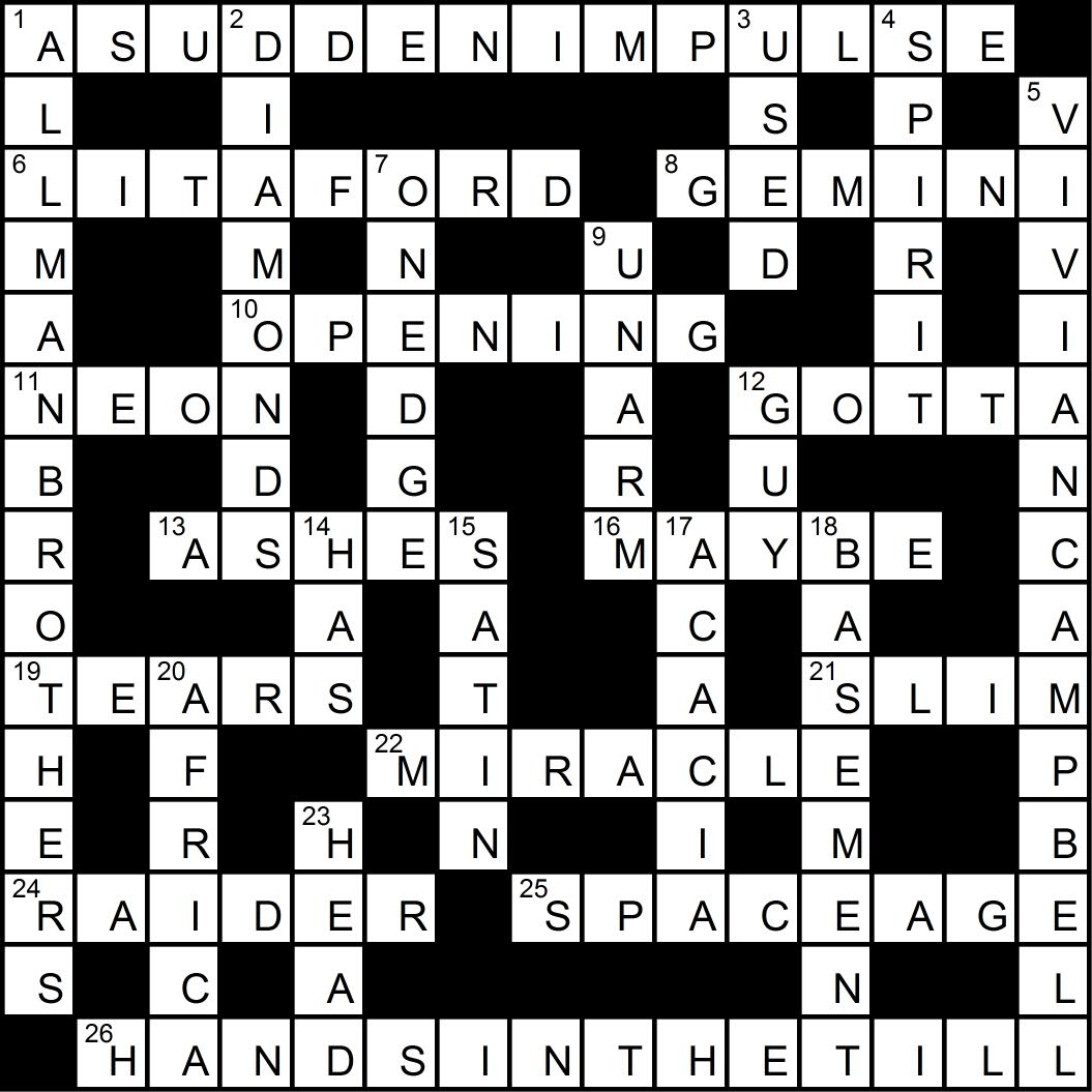 Crossword puzzle issue 1