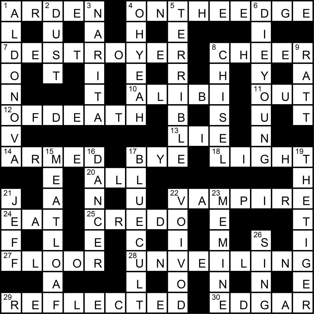 Crossword puzzle issue12