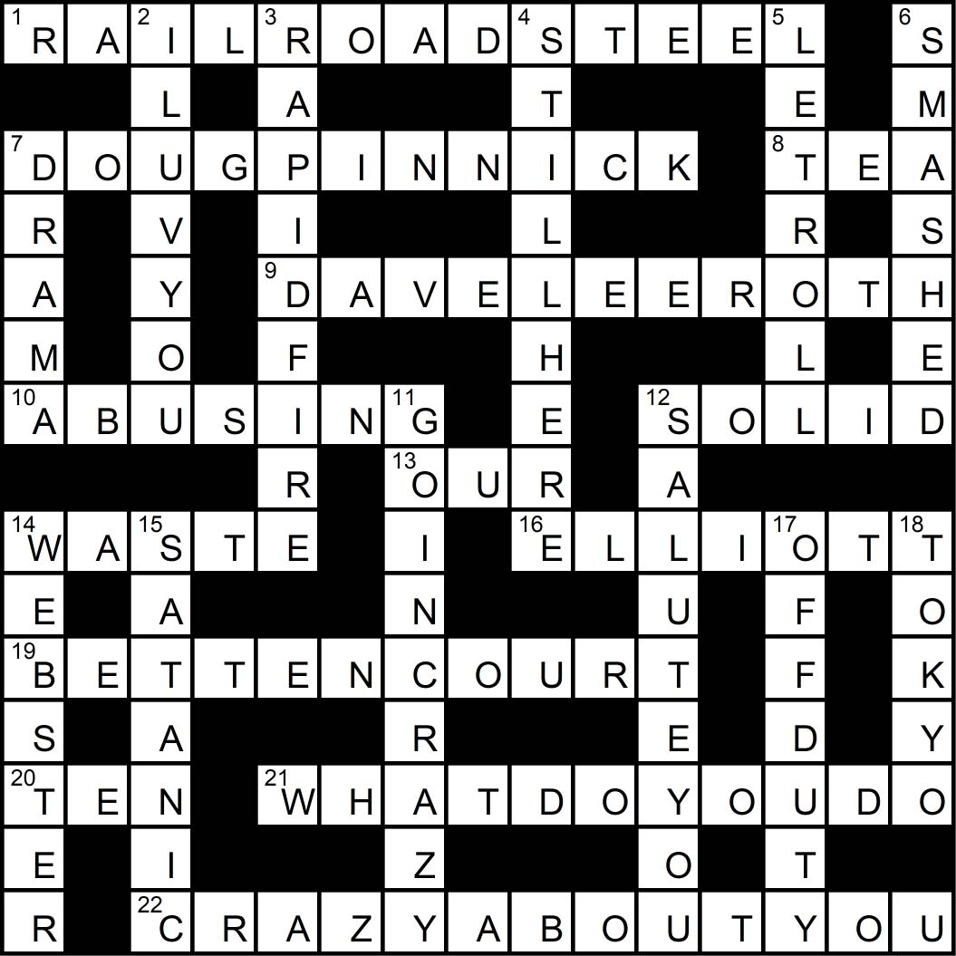 Crossword puzzle issue16